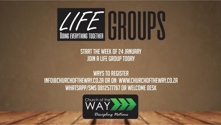 Life Groups 24 January